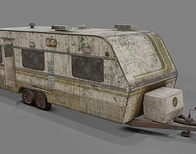 Abandoned Caravan 3D asset