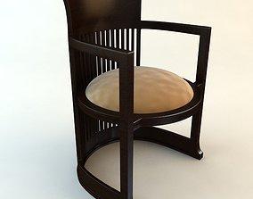 3D Frank Lloyd Wright Barrel Chair