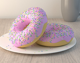 Donut 3D model food