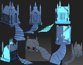 Cemetery Mausoleum 3D