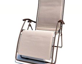 Outdoor Folding Deck Chair 3D