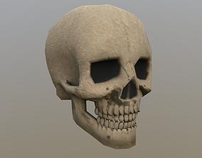 3D asset Skull Lowpoly
