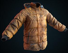 3D asset Dirty winter jacket