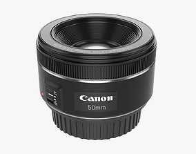 Canon EOS EF 50mm STM Lens 3D model