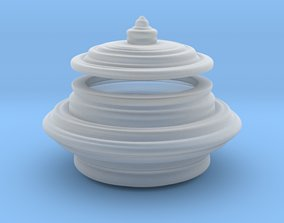 container 3D print model Round Box