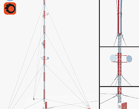 Communication Tower 04 3D model