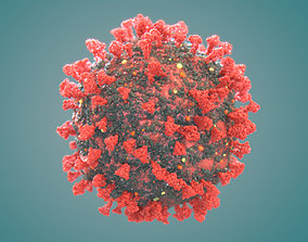 Corona Virus COVID-19 Ultra High Poly Molecule 3D model