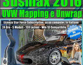 3ds max 2016 UVW Mapping e Unwrap Locked