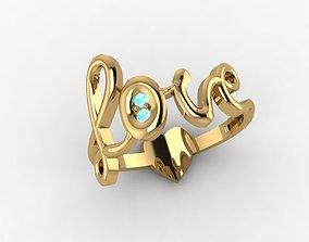 3D print model Love Stones Ring