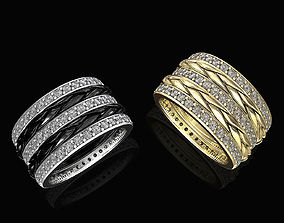 3D printable model Interlaced band ring with