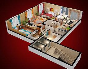 FURNISHED FLOOR 3D floor