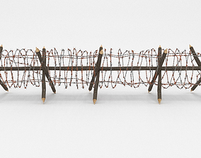 blender 3D model Barb Wire Obstacle