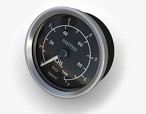 Oil pressure gauge 2 3D model