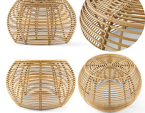 3D model JAVA RATTAN OTTOMANS From Large