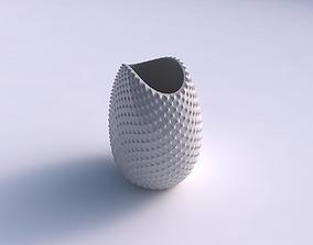 Bowl compressed with grid piramides 3D printable model