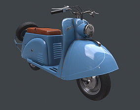 Soviet scooter Tula T200 3D