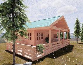 Wood Cottage 3D model