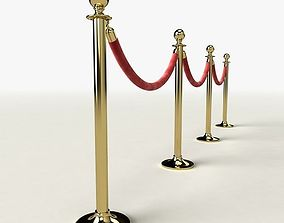 rope 3D model Stanchions