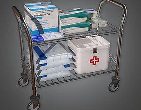 Medical Supply Cart 02 HPL - PBR Game Ready 3D asset