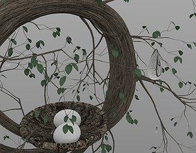 Bird Nest modeled egg 3D