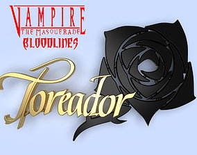 Vampire The Masquerade Bloodlines cosplay 3D print model 1