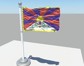Tibet flag 3D model