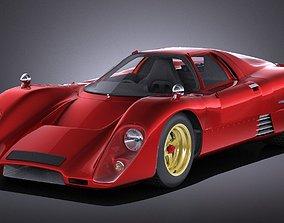 3D model Mclaren M6GT 1969 24h lemans race car VRAY