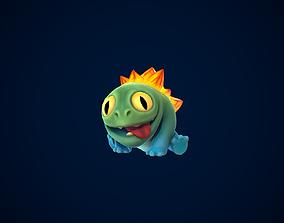 3D asset animated Lizard