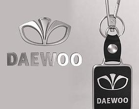 Daewoo car logo keychain 3d model
