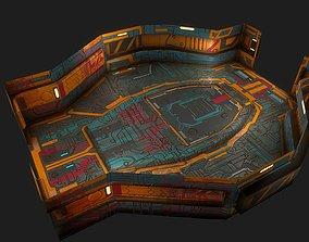 3D model Low poly sci fi modular room environment part2