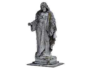 Jesus Sculpture Monument 3D