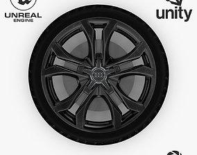 3D asset Wheel Steel-Chrome Dark Alloy Rim Audi 19 inch 2