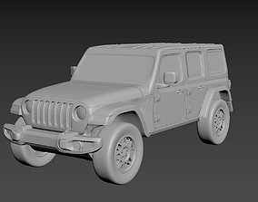 3D printable model Jeep Wrangler Unlimited 2019 on a small