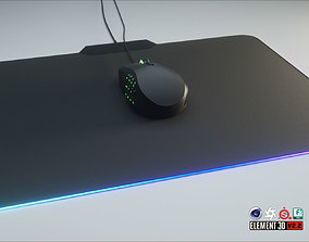 3D asset RGB Gaming Computer Mouse