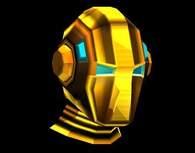 Space Warrior Helmet 3D asset