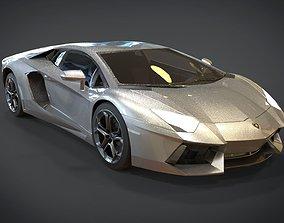 3D model realtime Lamborghini Aventador