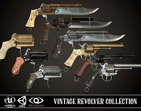 Vintage Revolver Collection 3D model