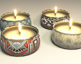 Candles 3D Model low-poly