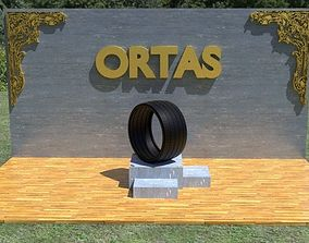 3d-print ORTAS TIRE NO 23 GAME READY AND 3D PRINTABLE