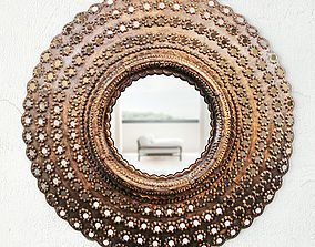 Round Peacock Mirror 3D decoration