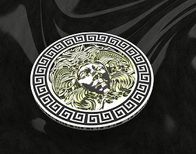 gold Versace Medusa pendant 3D print model