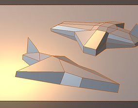 MEGA LOW poly airplane 3D model game-ready