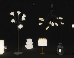 Lamps And Lights Pack 3D model