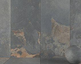 3D model Stone Wall Tiles Kayah Rust 120x270 Set 1