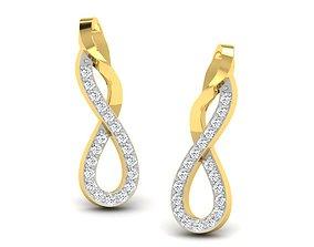 Women earrings 3dm render detail platinum gold luxury