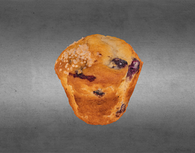 3D model Blueberry Muffin
