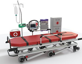 3D Ambulance Equipment with Stretcher