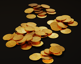 Pile of Gold Coins 3D model