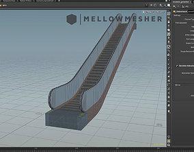 Escalator and Walkway Generator HDA 3D model