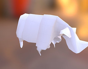 Realistic 3d Model of a paper Origami RHINO No realtime 1